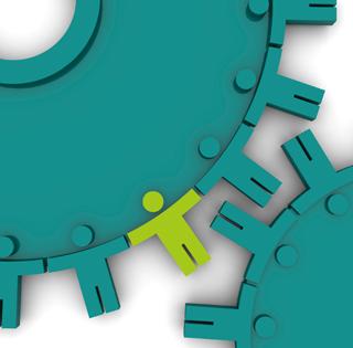 image of gears with people as interlocks