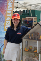 TCIPG grad student working at Illinois State Fair Energy Zone.